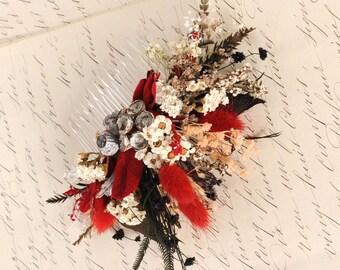 Rustic Wedding Dried Flower Comb Floral Comb Wedding Hair Accessory Bridal Flower Comb Wedding Head Piece Bridesmaid Headpiece Australia