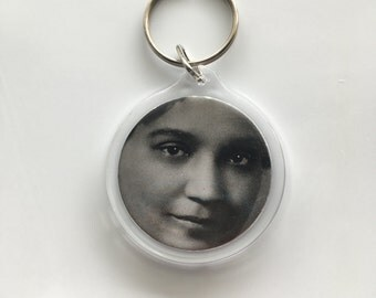 Jessie Redmon Fause Keychain Upcycled from the Woman Who Dare Library of Congress Cards