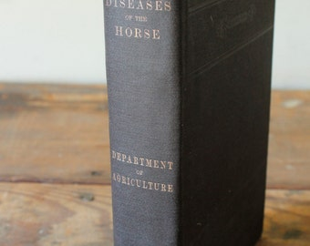 Antique Reference Book Diseases of the Horse Department of Agriculture Veterinary Book