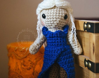 Mother of Dragons Daenerys inspired crocheted doll