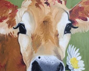 Cow Holding Daisy