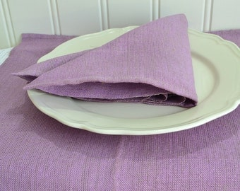 Lilac linen placemats , vintage table accessory, table protection, purple home decor , dining utensil, please view all details