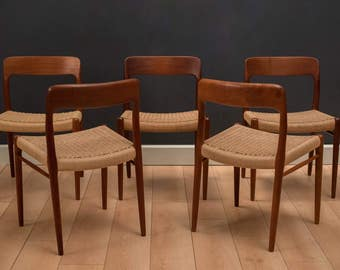 Danish Teak Niels Moller Dining Chairs #75