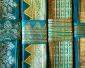 Green Vintage Sari borders, Sari Trim SR529