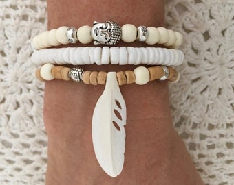 boho jewelry, buddha bracelet, bohemian gypsy mermaid bracelets