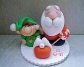 Santa - Elf - Polymer Clay - Christmas - Holiday Figurine