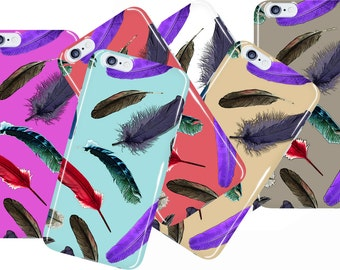 Feathers Samsung Galaxy s7 Edge Case Color Options iPhone 7 Plus Case Samsung Galaxy s7 Case Pattern Galaxy s7 Edge Cover iPhone 6s Case