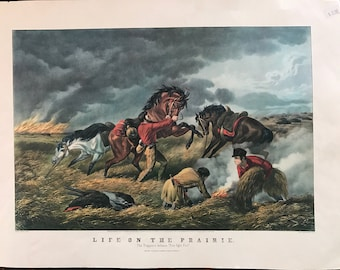 Life on the Prairie print, Currier & Ives