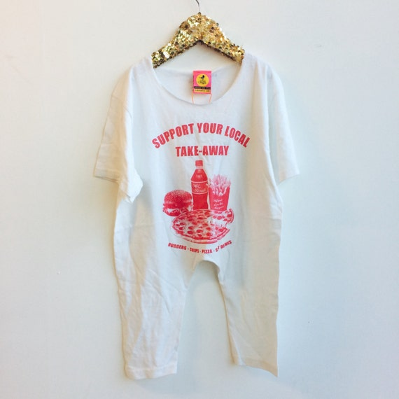 RUN 2-3 Years Kids Childrens Onesie Onepiece Bodysuit Playsuit T Shirt Suit Upcycled Cotton Unisex