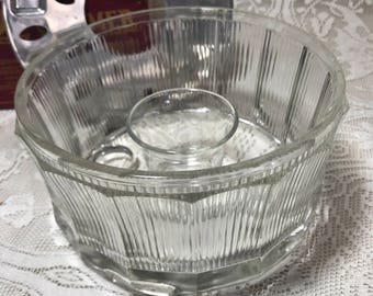Mid Century Candelight Food Warming Cut Glass Warmer- Dine by Candlight-Patio