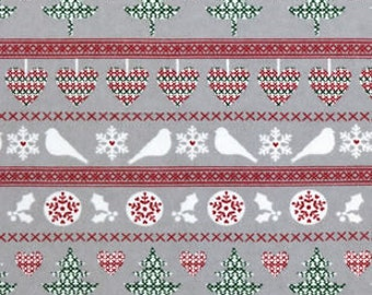 Snuggle Flannel Prints - Nature Winter Knit - Sold by the Yard