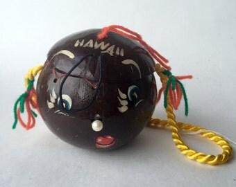 Unique Hawaiian Coconut Purse / Box