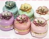Bubbly Macaron Trinket Box (Choose Color)