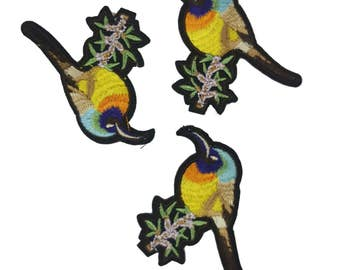 Embroidered Bird Patch Applique Badge, Gucci Style Patch Applique 1 pcs
