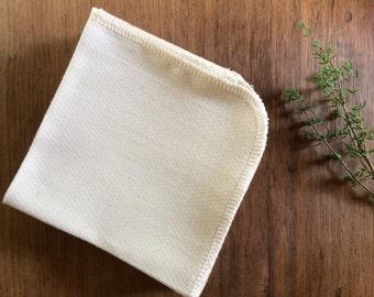 Organic Unpaper Towels, Organic Unbleached Cotton Birdseye Unpaper Towels, Reusable Unpaper Towels, Reusable Paper Towels, SET OF 24