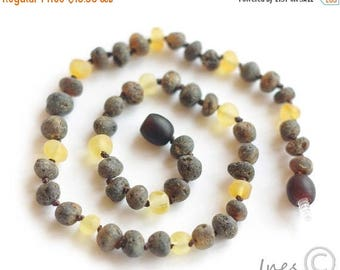 15% OFF Raw Unpolished Baltic Amber Baby Teething Necklace