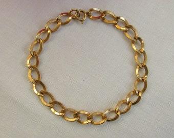 Bracelet - Gold Fill - Link Bracelet - Charm Bracelet - Vintage