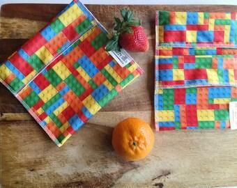 Reusable Snack Bag, Set Snack Bags, Reusable Sandwich Bag, Sandwich Bag Bundle, Kids Lunch Bags, Reusable Lunch Bags, Ecofriendly Snack Bags