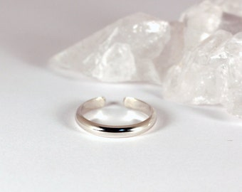 Adjustable Toe Ring, 2.5 mm Half Round Sterling Silver, Made to Order