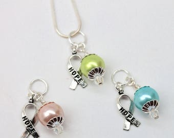 30% OFF SALE Cancer Awareness Necklace. By Lori Davidson