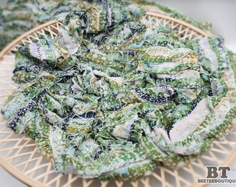Green Mix Ruffle Stretchy Knit Wrap fabric - Newborn photography Props
