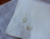 Vintage Linen Napkins 4 Natural White Hand Embroidered Very Fine Drawnwork Cocktail Luncheon