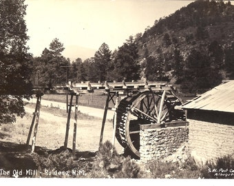 Vintage Photo Postcard...New Mexico, The Old Mill, Ruidoso..Used, 1947...no. 1360