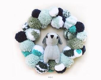 Darby & Dot ™ Pom Pom Wreath - Blue Haze
