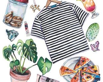Set of Postcards - Watercolour Illustrations- 4 Designs
