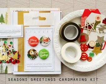 Season Greetings Card Kit Cardmaking Kit DIY Cards