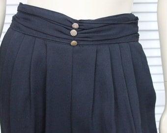 Vintage Dress Pants  Waist Black 80s/90s Size 8
