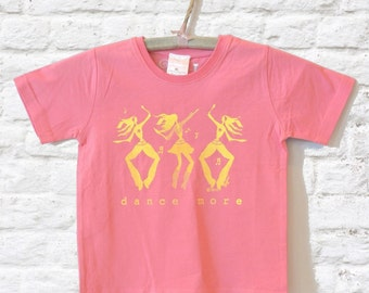 Dance Shirt, Gift for Dancer, Organic T shirt Pink Tshirt Gift for Girls Children's Clothing Kids Clothes