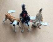 Miniature dog custom dog portrait needle felted dog gifts for dog owner dog miniature portraits of my dog dog art custom dog memorial