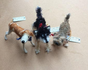 Miniature dog, custom dog portrait, needle felted dog, gifts for dog owner, dog miniature, portraits of my dog, dog art custom, dog memorial