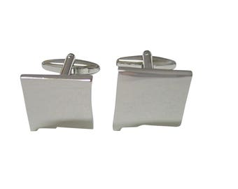New Mexico State Map Shape Cufflinks
