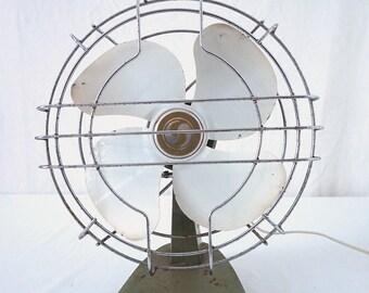 Industrial Vintage Desk Top Oscillating Fan