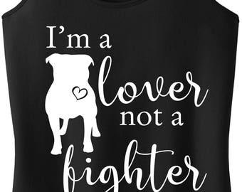 Pit Bull shirt, Pit Bull, Pibble, Pittie shirt, Pit Bull tank top, Pittie, Gift Idea, APBT, t-shirt, Lover not a fighter, tank