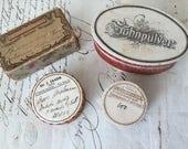 Antique Apothecary Pill Boxes, Apothecary  Prescription Medicine Boxes, Cardboard  Boxes, 1900s Set of 4