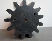 Large Vintage Wooden Cog Wooden Gear Industrial