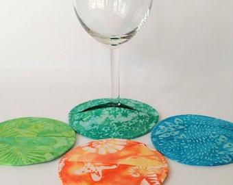 Coasters, Slipper Coasters, Stemware Slipper Coasters, Wine Glass Charms