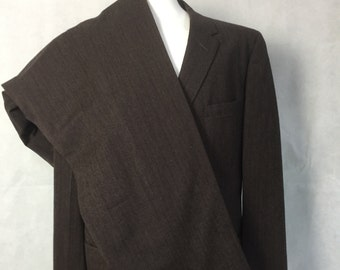 1950s suit brown stripe