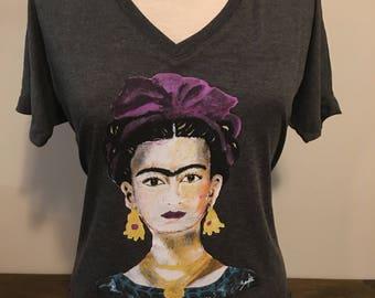 Frida Kahlo V-Neck Fashion Shirt