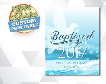 Baptized (Holy Spirit) Custom Printable