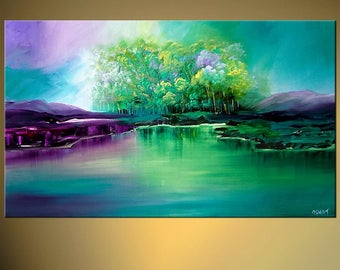 Canvas Print - Stretched, Embellished & Ready-to-Hang  - Eden - Art by Osnat