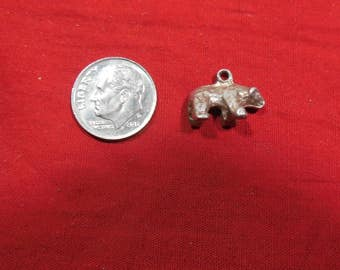 Vintage Bear Sterling Silver Charm