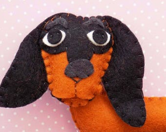 Dollie the Dachshund Sewing Pattern. Instant Download.