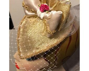 Belle Inspired Fascinator Hat