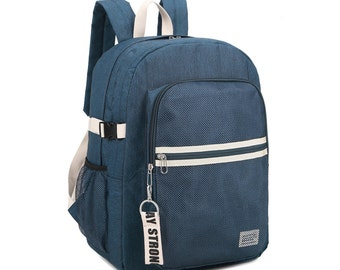 Stripe point Backpack(Navy)