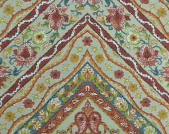 Vintage Upholstery Fabric, Home Decor Fabric, Chevron Fabric, 70s Fabric, Heavy Cotton Fabric, Retro Fabric - 1 1/4 Yard - UF2012