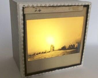 Magic lantern Slide Light Box/ Landscape Photo Ornament/ decoration
